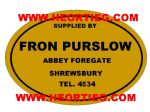 Fron Purslow Shrewsbury Motorcycle Dealer Decals Transfers DDQ102